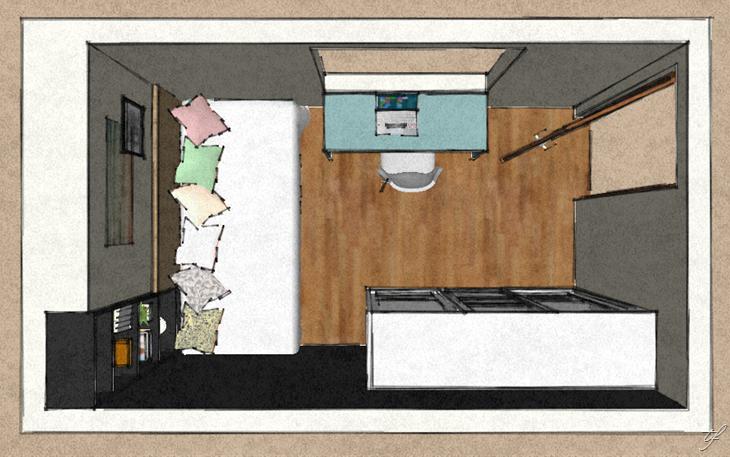 nicho-embutido-no-quarto-layout