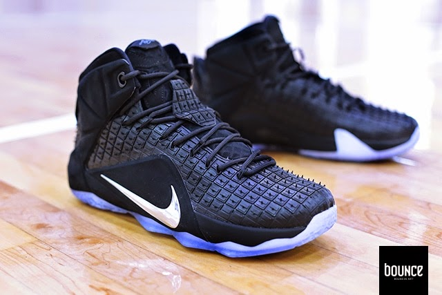 "online retailer f6ceb 18857 Detailed Look at NSW s LeBron XII EXT Black ""Rubber City"""