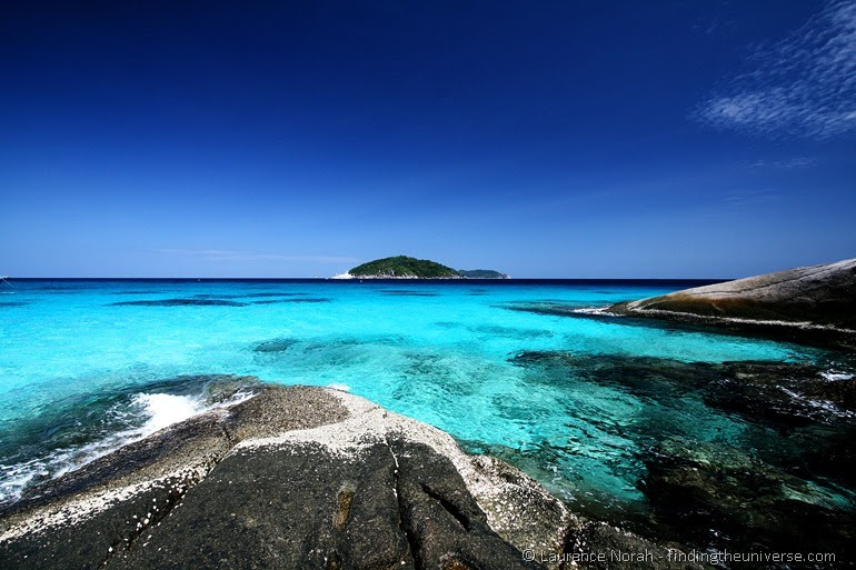 View of Similan islands and sea