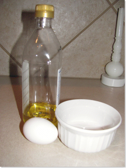 olive oil egg mask