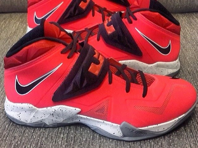 22c9696565df26 Nike Zoom LeBron Soldier VII 8211 Red Black Grey 8211 Playoffs ...