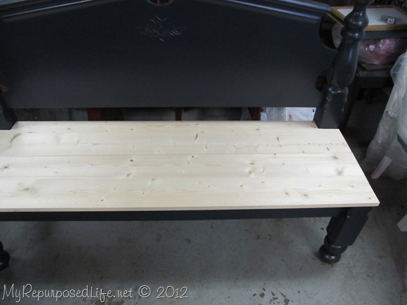 bench seat made with Kreg Jig
