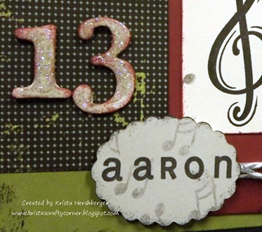 Aarons 13th bday card_music- close up