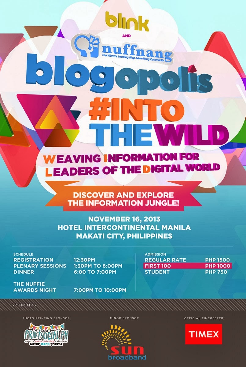 Explore the Information Jungle at Nuffnang Blogopolis 2013 Into the Wild