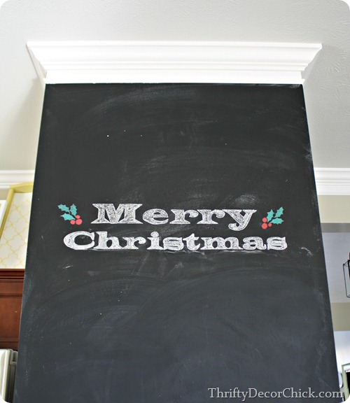 transferring letters or images onto chalkboard