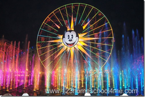 My favorite Disney show - World of Color in California