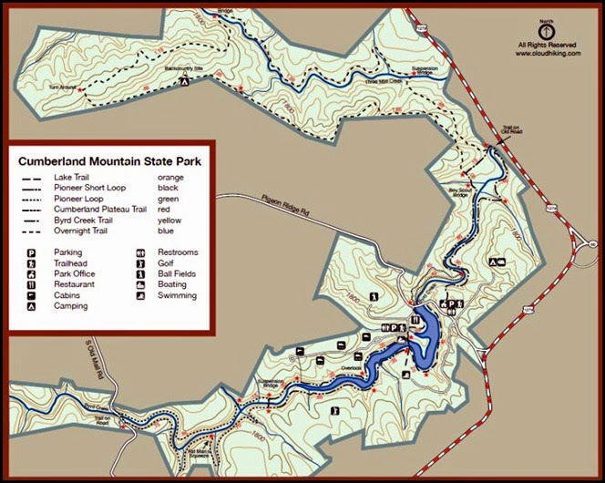 00a - Cumberland Mountain SP Trail Map