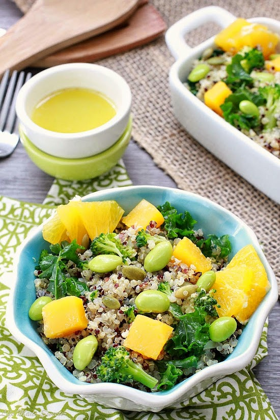 Fall Quinoa Salad with Roasted Butternut Squash and Wasabi Lime Dressing from @lifemadesweeter.jpg