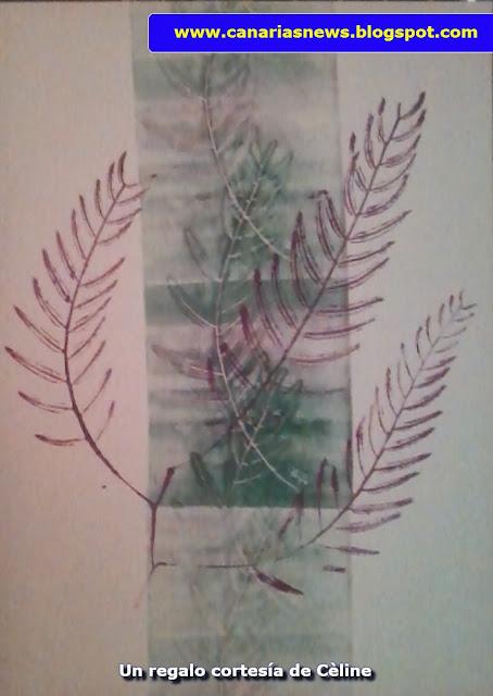 estampado de hojas de Cèline