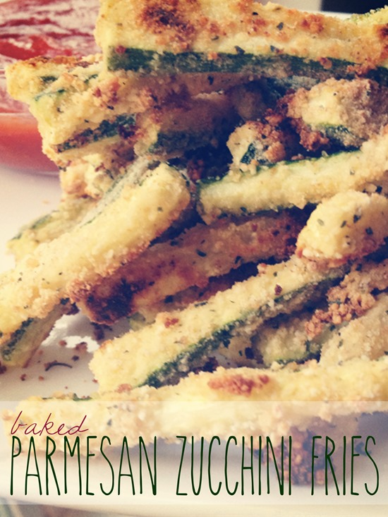 Baked Parmesan Zucchini Fries Shan Made