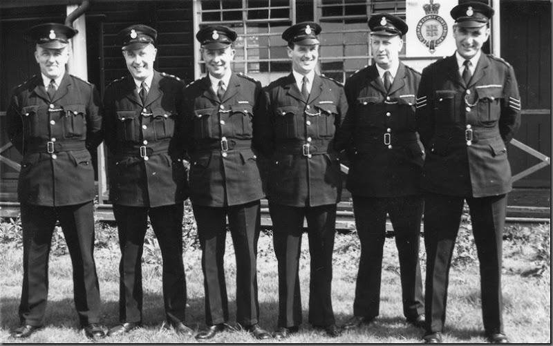 Instructors, Sedgefield 1960's,  L to R   ?, Athol Burnham, Jock Murphy, Joe Millican, Sgt Tommy Lingwood