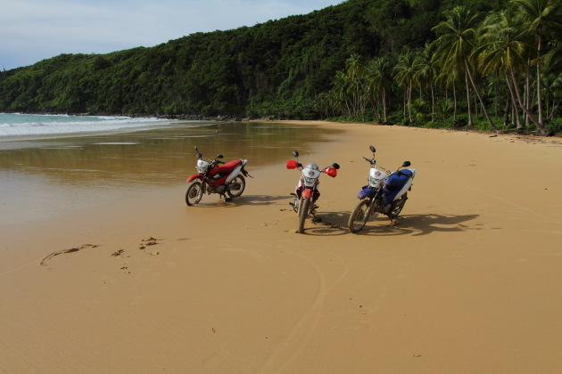 Beach Biking - Nacpan Beach, Palawan, Philippines