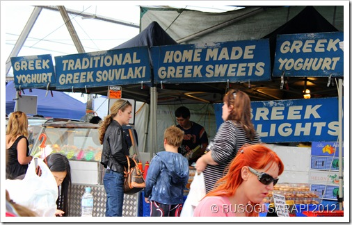 GREEK FOOD STALL, ROCKLEA SUNDAY DISCOVERY MARKET© BUSOG! SARAP! 2012