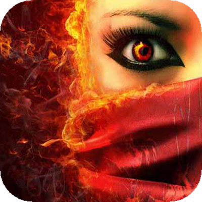 Girl with fiery eyes LWP