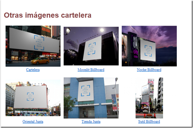 haz carteles con tu foto en una valla publicitaria