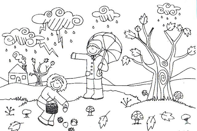 Dibujos Para Colorear El Otoño