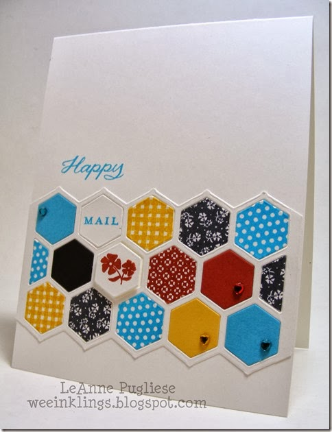 LeAnne Pugliese WeeInklings ColourQ 210 Papertrey Hexagons