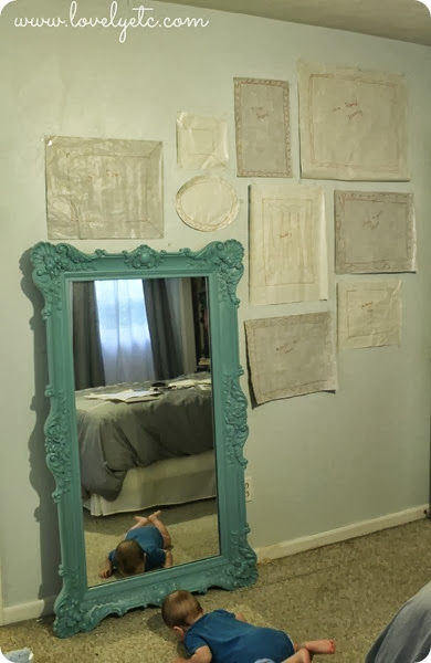 gallery wall with paper templates