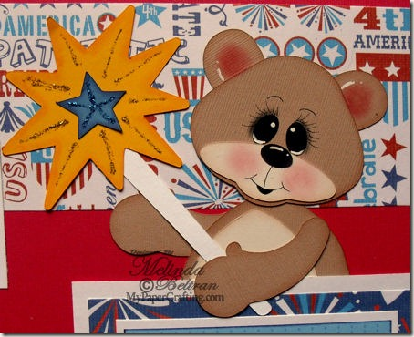 half bear paper piecing-born in usa-450