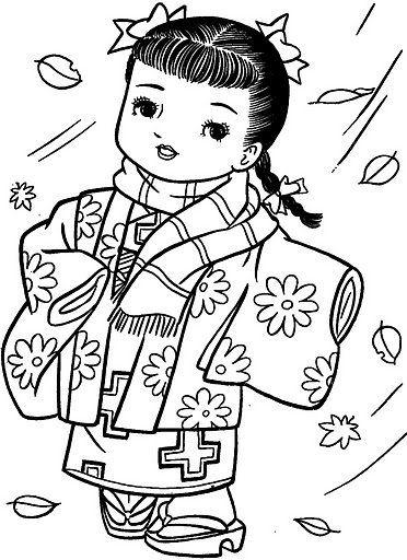 Dibujos De Munecas Japonesas Para Colorear