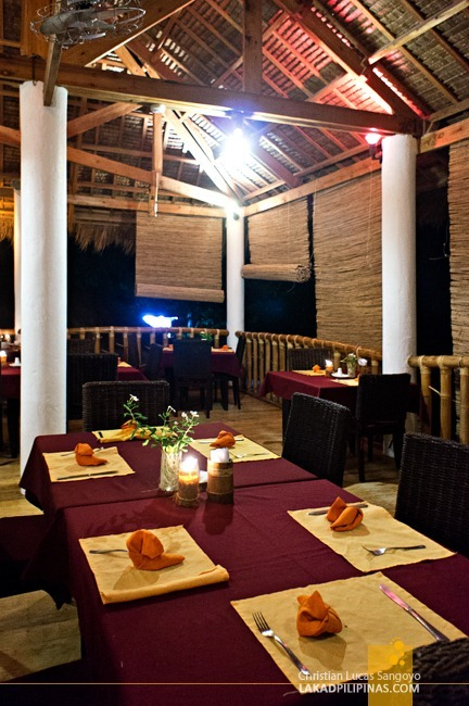 Second Floor Dining at Ocean Vida Restaurant at Malapascua Island