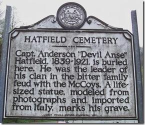 Little Bits of History Along U S  Roadways: Hatfield Cemetery