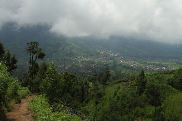 Villages on the slopes of Mount Merapi, Indonesia