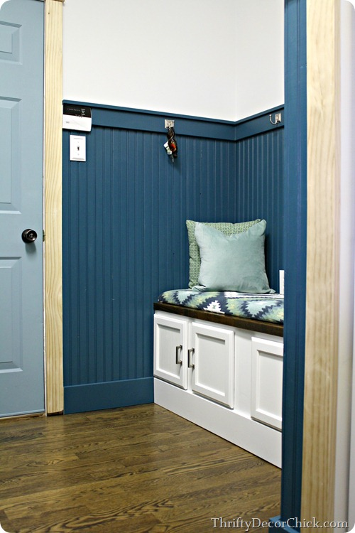 mud room with beadboard