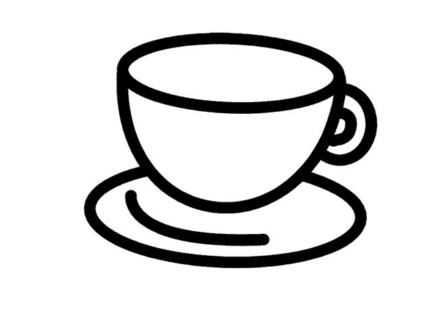 TAZAS DE CAFE PARA COLOREAR