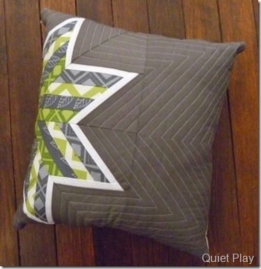 Paper pieced cushion