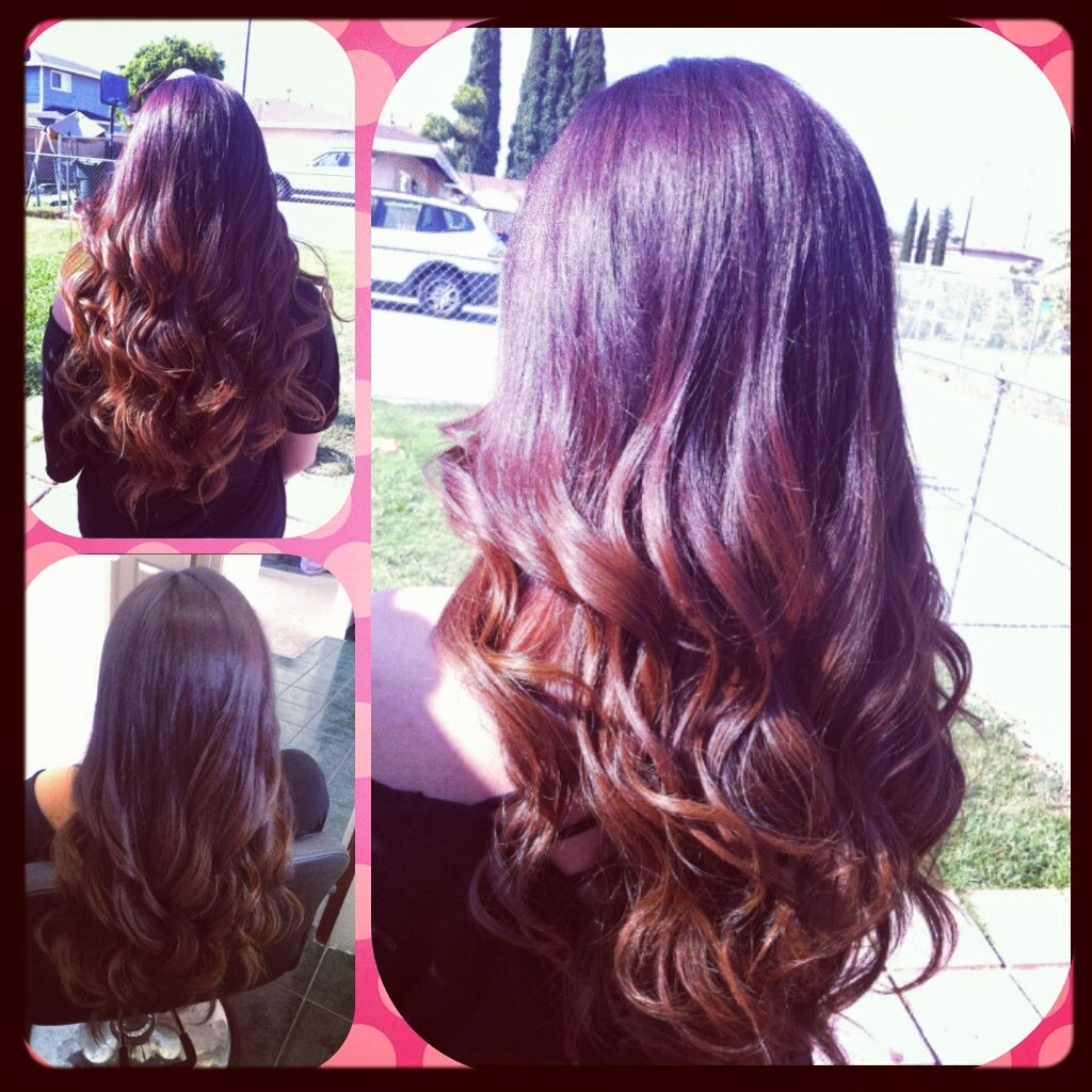 The gallery for --> Auburn Ombre Hair