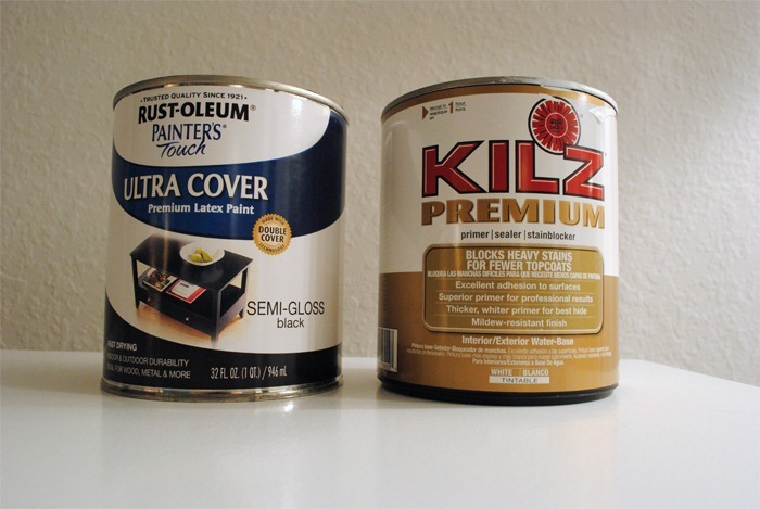 Front Door Paint: Kilz Premium Water Based Primer and Rustoleum Ultra Cover Semi-Gloss Black