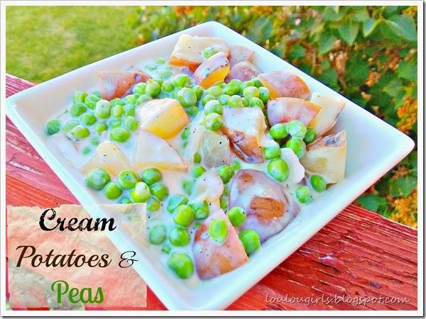 cream potato and peas