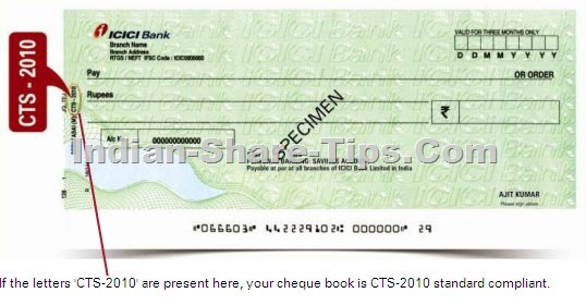 CTS 2010 cheque identification