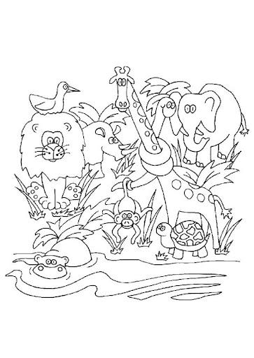 Animales Selva Para Colorear Frases De Nacimiento De Un Hijo