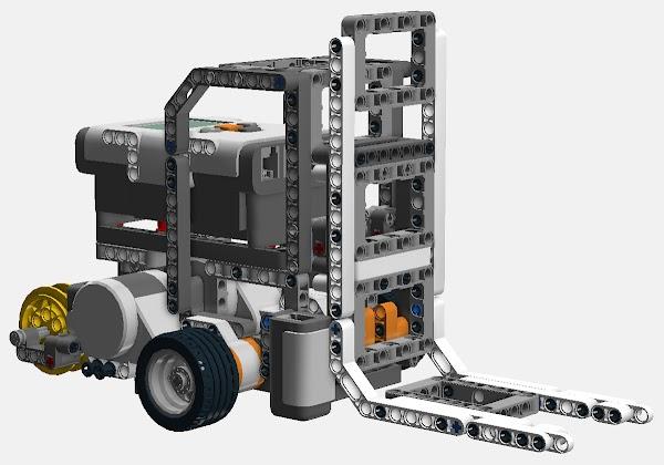 Lego Mindstorms Nxt Forklift Mark Ii Follows Line