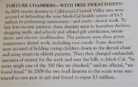 Torture Chambers and a sweatshirt-excerpt from Uncle John's Bathroom Reader-The World's Gone Crazy-May 2010