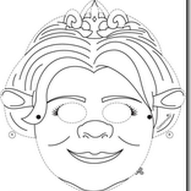 Mascaras De Los Personajes De Shrek Para Imprimir Color Y