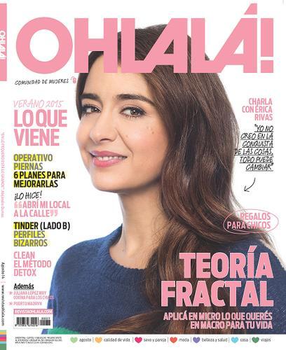 Erica Rivas En Revista Ohlala Agosto 2014 Tapa Y