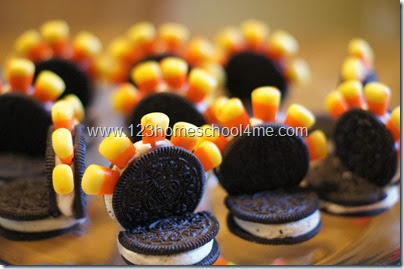 here's our flock of Oreo Turkeys