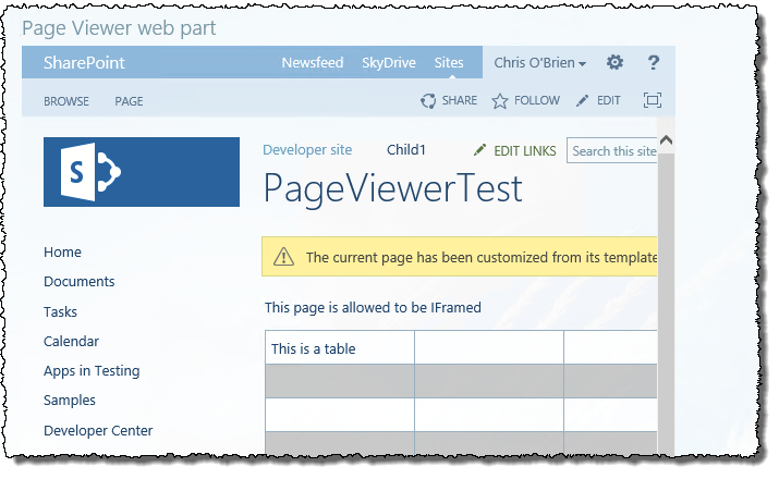 Page viewer web part