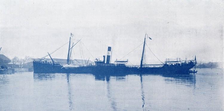 El vapor NUESTRA SEÑORA DEL CARMEN. Foto del libro LA ESPAÑA MARITIMA..jpg