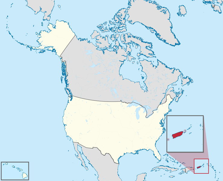 map of Puerto Rico's location relative to the U.S.