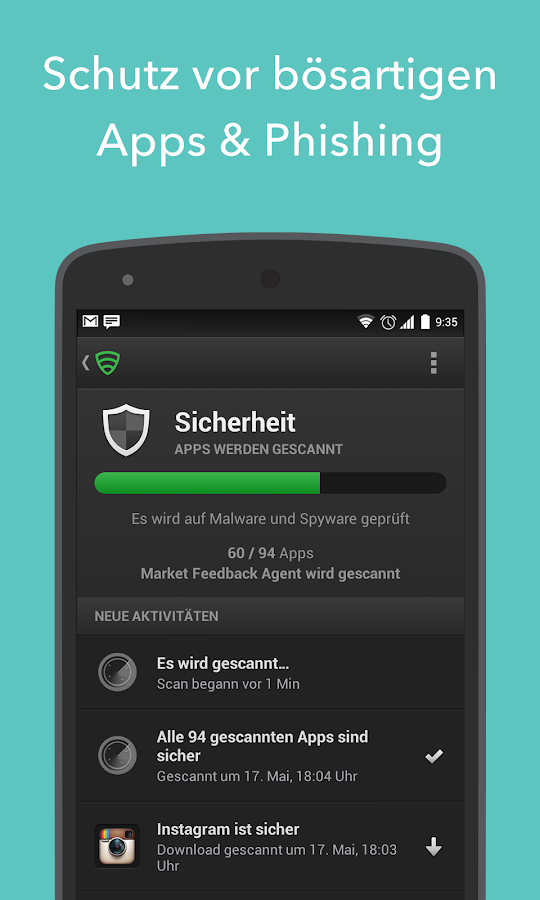 Antivirus & Sicherheit Lookout - screenshot