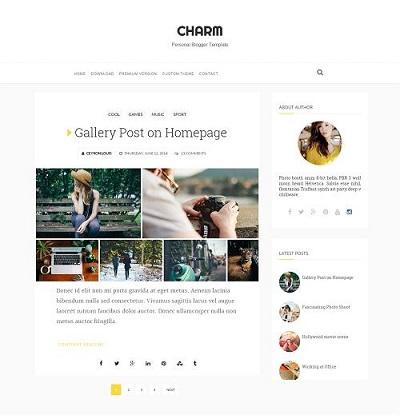 Template Charm cho Blogspot