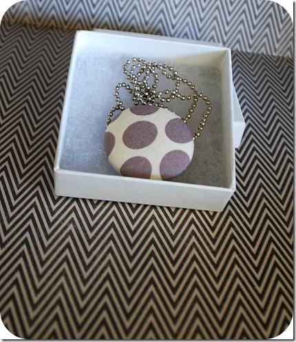 plain covered button pendant
