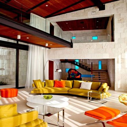 decoracion-salas-modernas-de-colores-sillones-de-colores