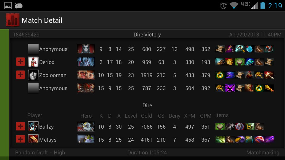 statistics for dota 2 android apps on google play