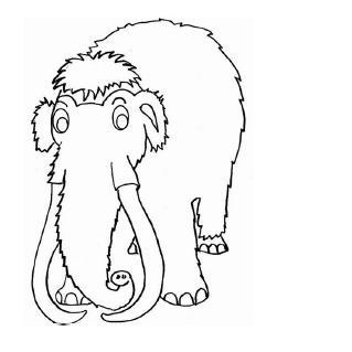 Dibujos Para Colorear Mamuts