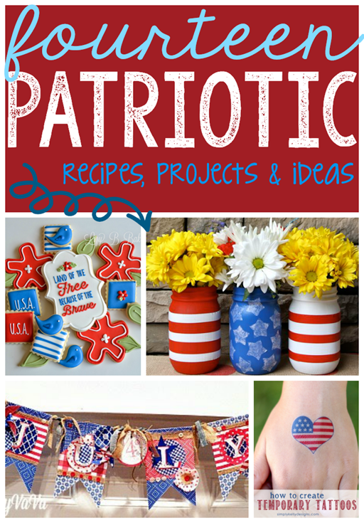 14 Patriotic Recipes, Projects & Ideas at GingerSnapCrafts.com #linkparty #features#4thofJuly